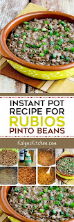 Instant Pot (or Stovetop) Copycat Recipe for Rubio's Pinto Beans found on KalynsKitchen.com