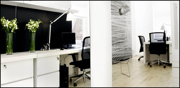 Excellent Black And White Small Private Office By Firma D O O Largest Home Design Picture Inspirations Pitcheantrous