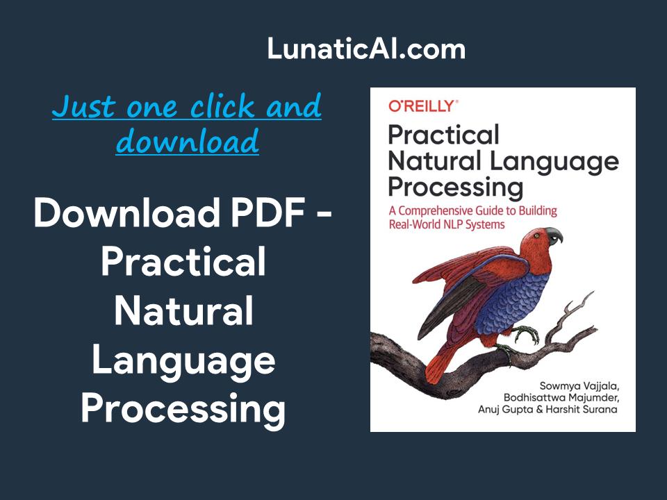 Practical Natural Language Processing PDF Github