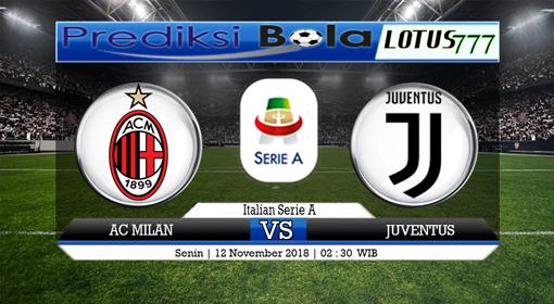 Prediksi Laga AC Milan vs Juventus, 12 November 2018