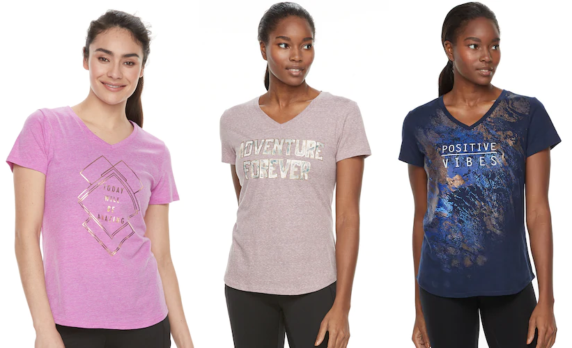 Kohls has this Women s Tek Gear Dry-Tek V-neck Tee for  3.90 (Reg.  13).  Kohl s Card-Holder also get an extra 30% off with code  CRISP30 and free  ship with ... 0ce30cd48