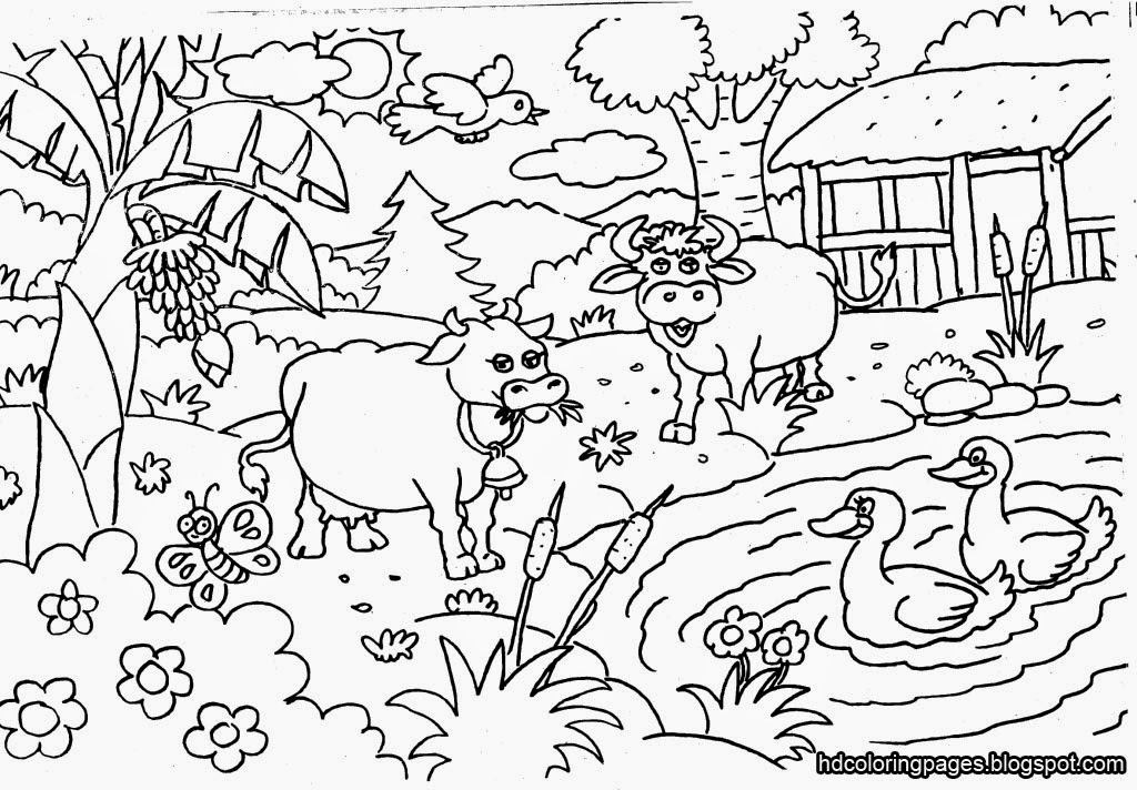 Gardening Coloring Pages for Kids