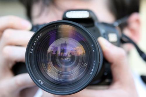 Câmera digital. #PraCegoVer