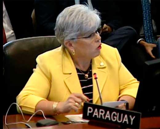 ¡TOMA TU TOMATE! Mira como la representante de Paraguay le restregó a Delcy Eloína deuda de Venezuela de USD 8 millones a la OEA (+Video)