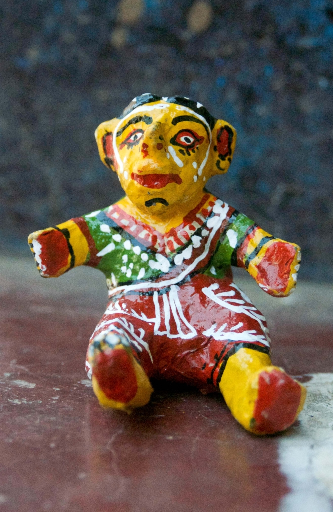 Cow dung doll from India