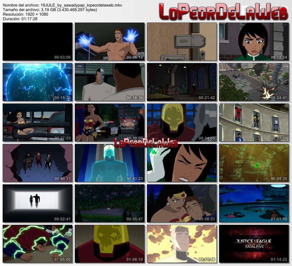 Justice League vs the Fatal Five [2019] [BBRip 1080p] [DA]