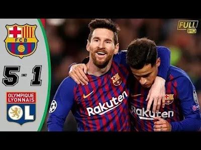 Barcelona vs Lyon 5-1 Football Highlights and Goals 2019