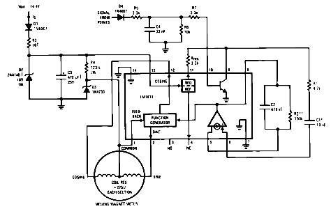 LM1819 Automotive Tachometer Application Circuit Diagram and Datasheet