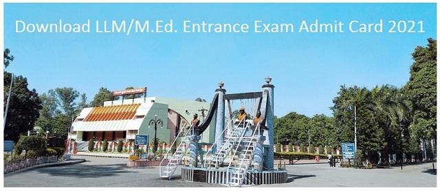 Download CCSU LLM,MED entrance exam admit card 2021