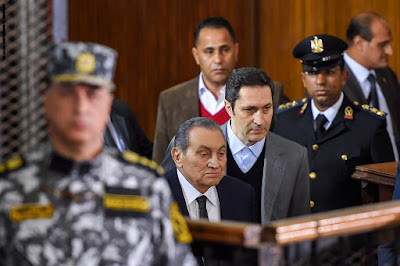 Alaa Mubarak and Hosni Mubarak