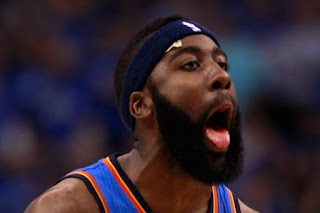 James Harden Chin Curtain Beard Style