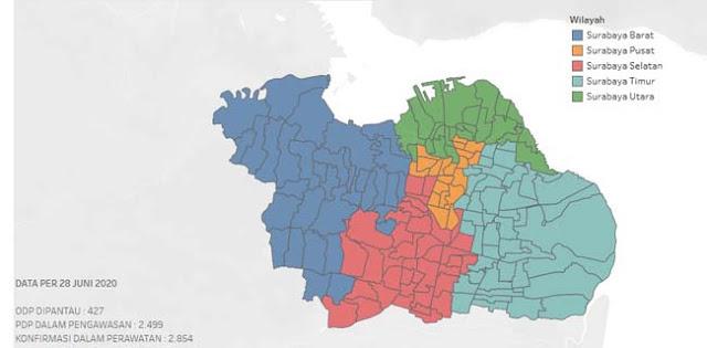 Update Corona Surabaya: Kasus Positif 5.510 Pasien, 4.918 PDP, ODP 4.388