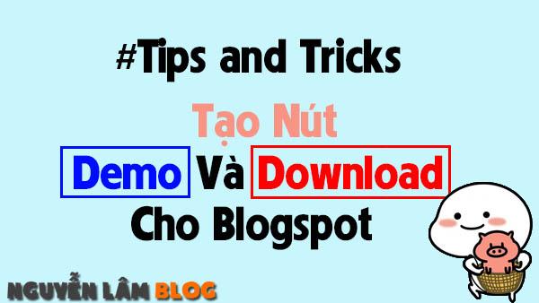 Tạo Nút Demo Và Download Cho Blogspot Với Hiệu Ứng Stylish Slider CSS