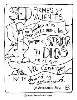 free bible coloring pages in spanish | My first Spanish coloring page (Deuteronomio 31:6 ...