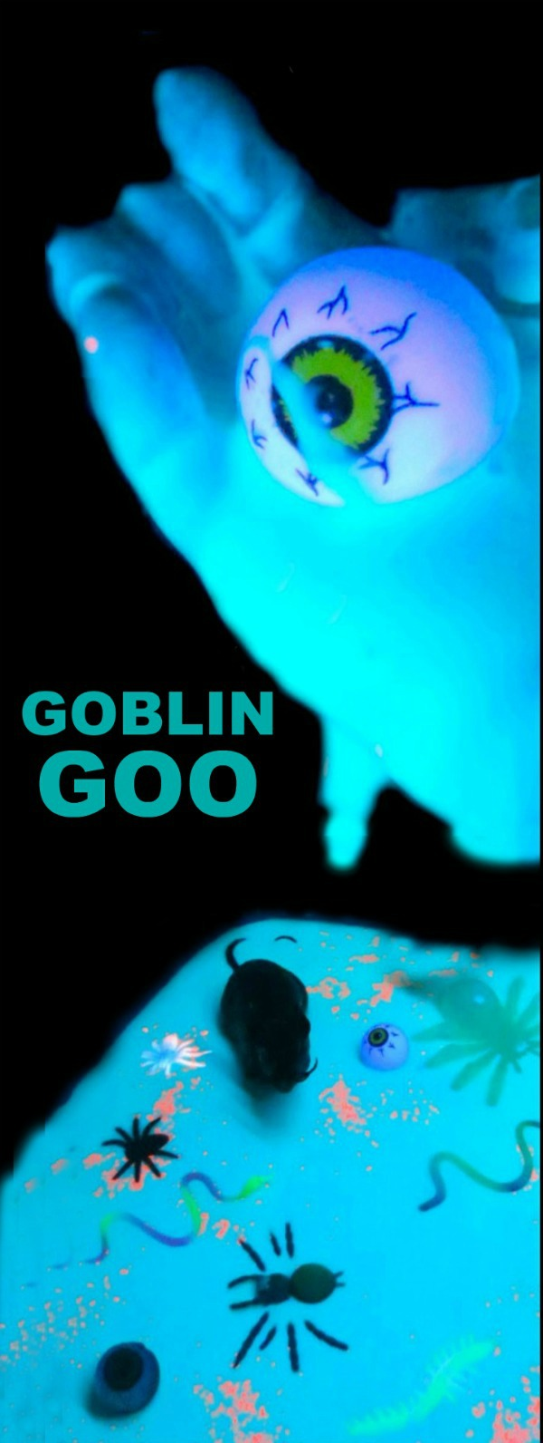 How to make Goblin GOOP for kids- a super fun Halloween activity!!