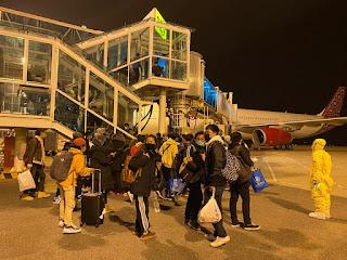 Proses Evakuasi WNI Di Wuhan Menggunakan Pesawat Batik Air A-330