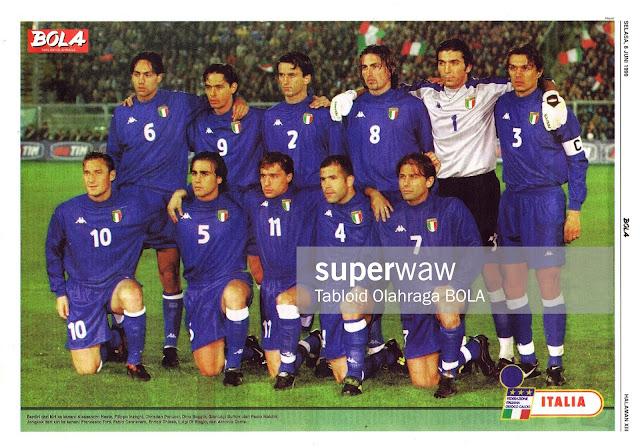 ITALY FOOTBALL TEAM SQUAD 1999