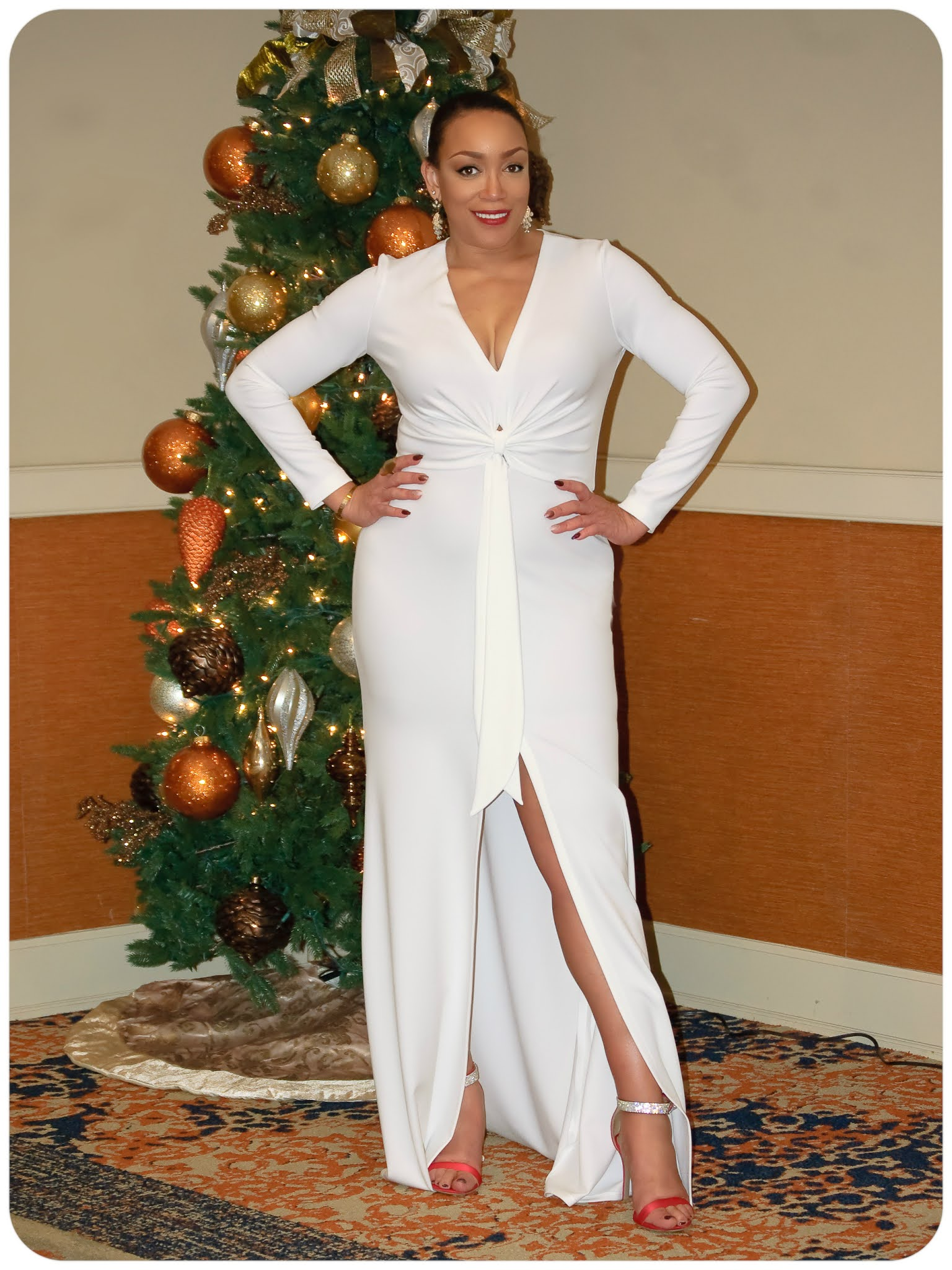 McCall's 8037 - Winter White Evening Gown - Erica Bunker DIY Style!