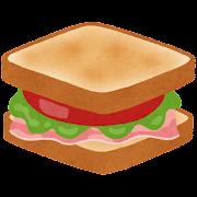 BLTサンドイッチのイラスト