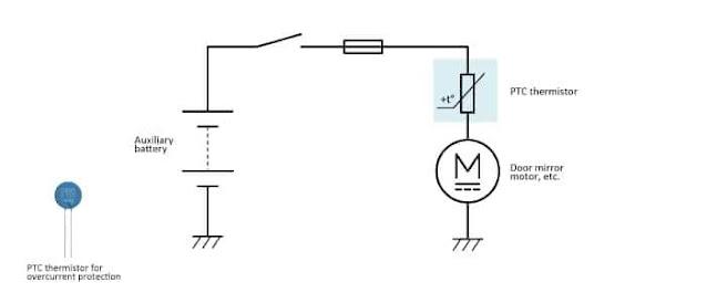 2- المقاومة ذات معامل الحرارة الموجب Positive Temperature Coefficient Thermistor - PTC