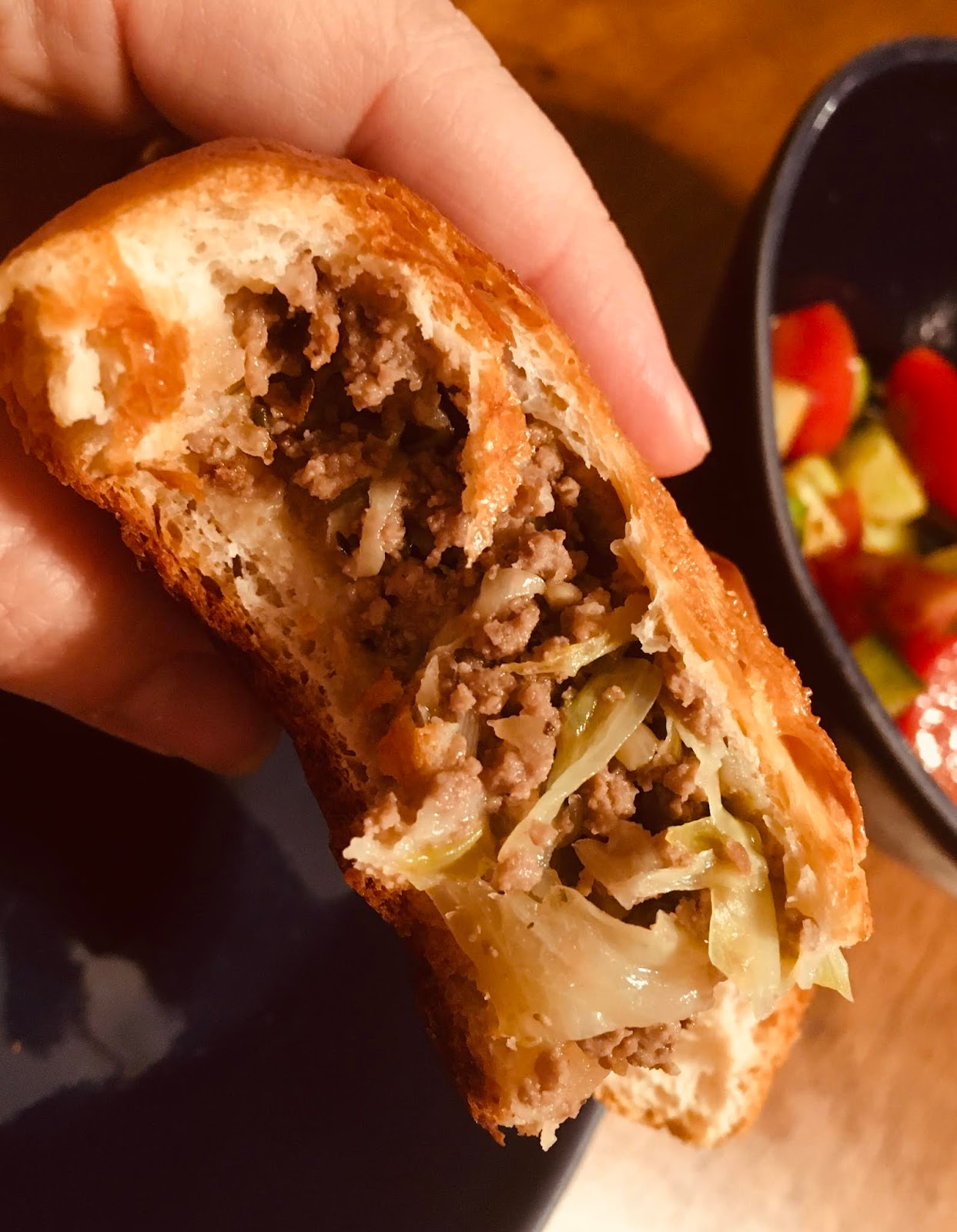 Ground Beef and Cabbage Hand Pies