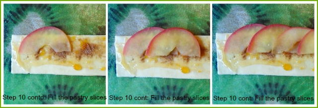 Step by step guide to making apple roses