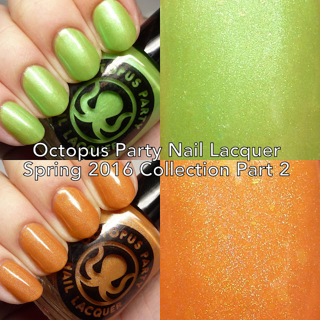 Octopus Party Nail Lacquer Spring 2016 Collection Part 2