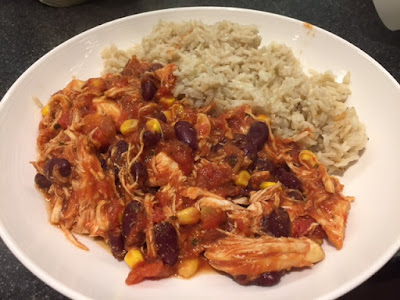 Mexican chicken and brown rice