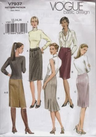 vogue very easy pencil skirt
