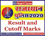 Rajasthan Police Constable 2020 Result and Cutoff Marks
