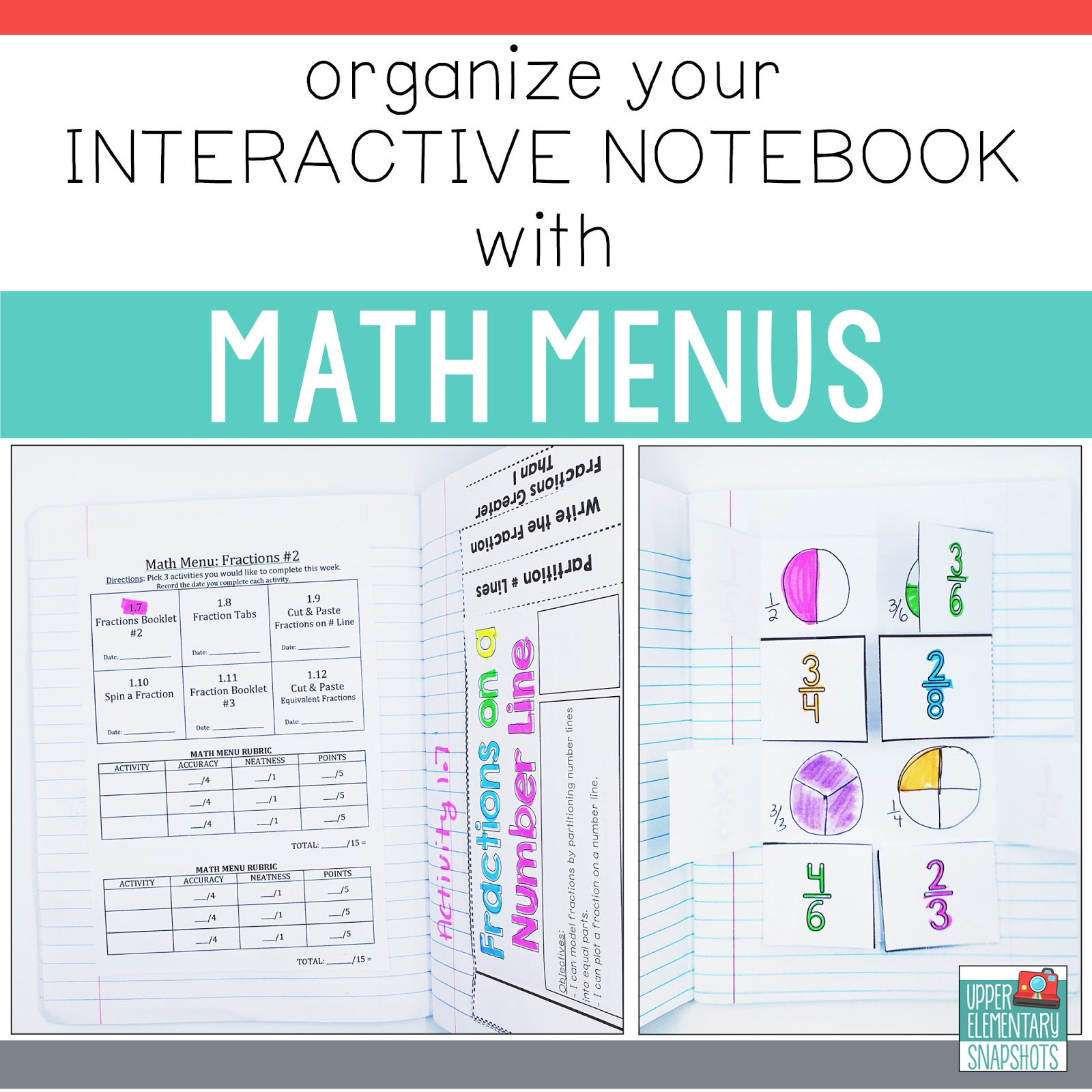Organize Your Interactive Notebook With Math Menus