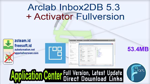 Arclab Inbox2DB 5.3 + Activator Fullversion