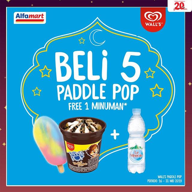 #Alfamart - #Promo Beli 5 Paddle POP Free 1 Le Minerale (s.d 31 Mei 2019)