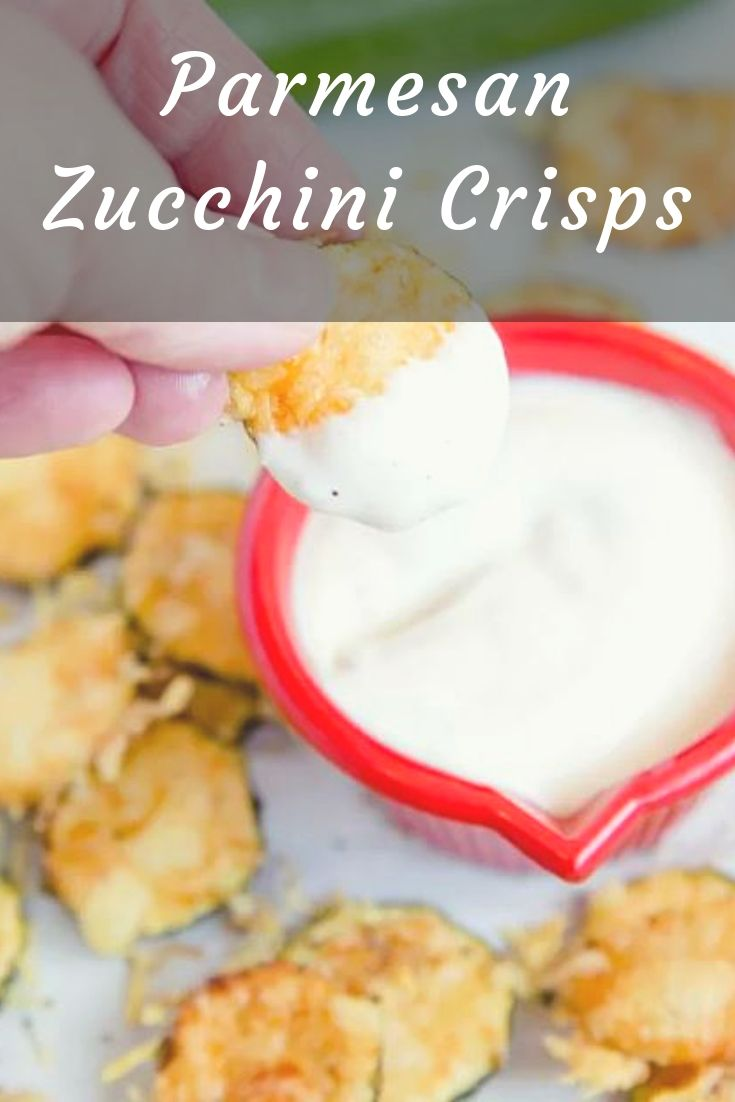 Baked Parmesan Zucchini Crisps are a highly addictive snack that is simple to make with just two ingredients! You'll love these healthy zucchini chips!