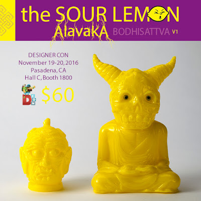 Designer Con 2016 Exclusive The Sour Lemon Alavaka Bodhisattva Vinyl Figure Version 1 by Devils Head Productions