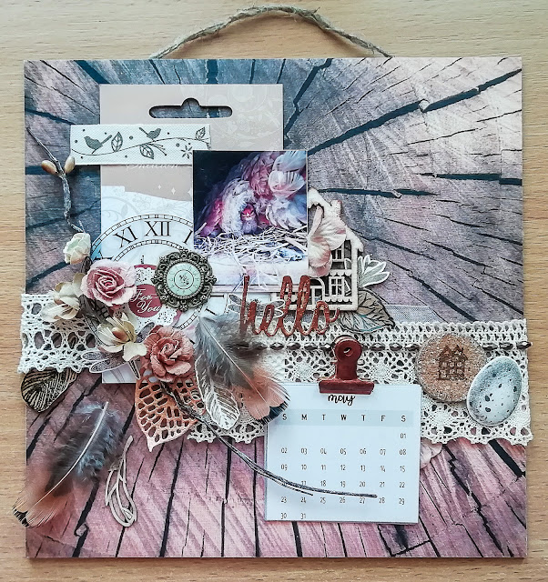 Календарь, calendar, курчатка, коричневий монохром, календарь скрапбукинг, chiken, scrapbooking calendar