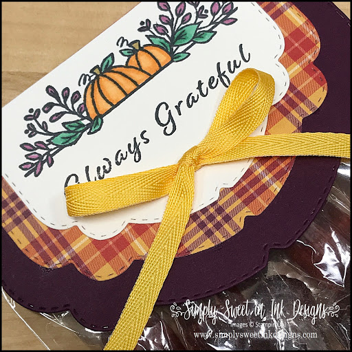 Easy tag topper with Stampin' Up! Plaid Tidings suite.