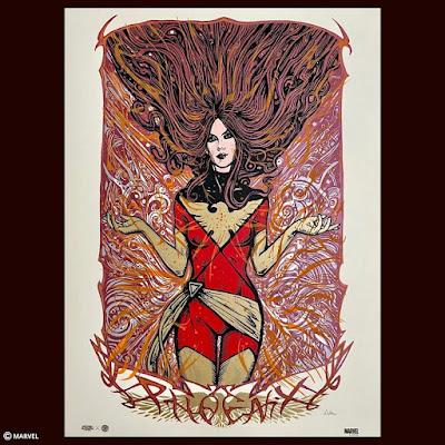 "X-Men ""Dark Phoenix"" Marvel Comics Screen Print by Malleus x Plush Art Club x Grey Matter Art"