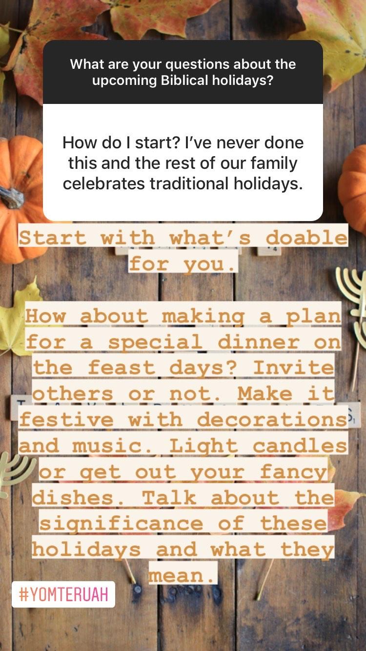 How to start celebrating Sukkot, Yom Teruah, Yom Kippur and the Biblical holidays | Land of Honey