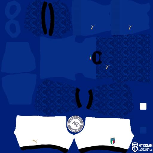 Kits đội tuyển Ý Italia 2020 - Dream League Soccer 2021