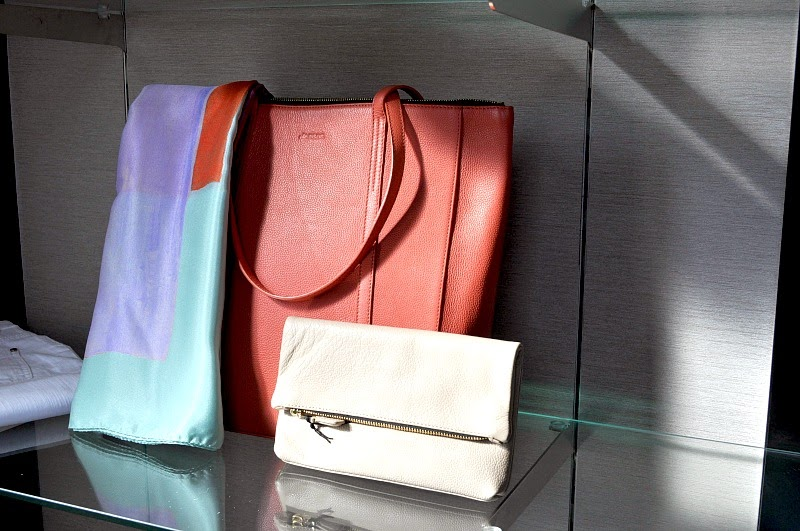 Jaeger bag and clutch bag spring summer 2015