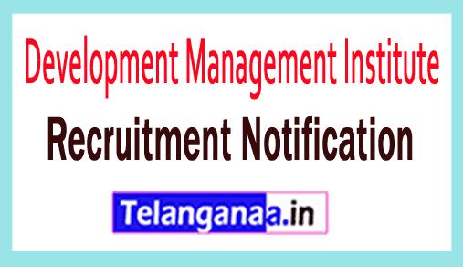 Development Management Institute DMI Recruitment