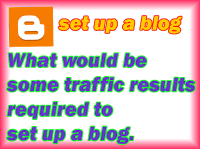 What would be some traffic results required to set up a blog?