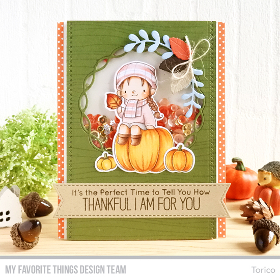 Handmade card by Torico featuring products from My Favorite Things #mftstamps