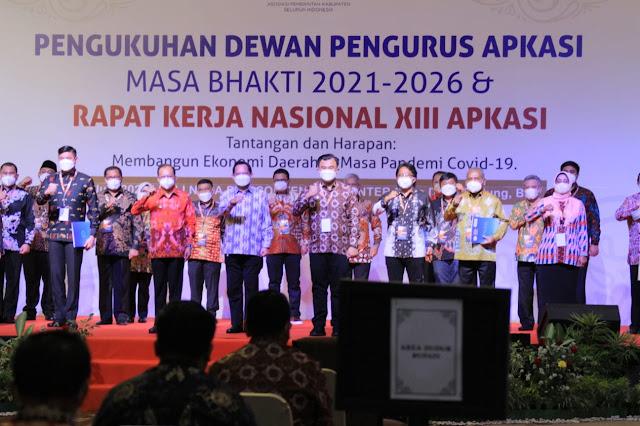 Bupati Dodi Reza Resmi Dilantik Jadi Ketua Bidang Energi dan SDM APKASI