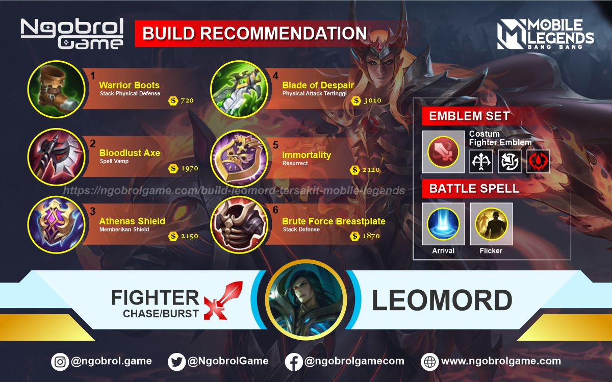 Build Leomord Savage Mobile Legends
