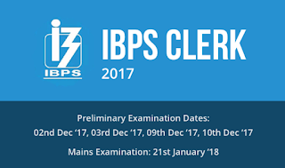 IBPS Clerk 2017 Notification Out | Online Registration Starts from 12th Sept