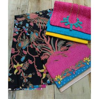 Kain Batik dan Embos 428 Pink