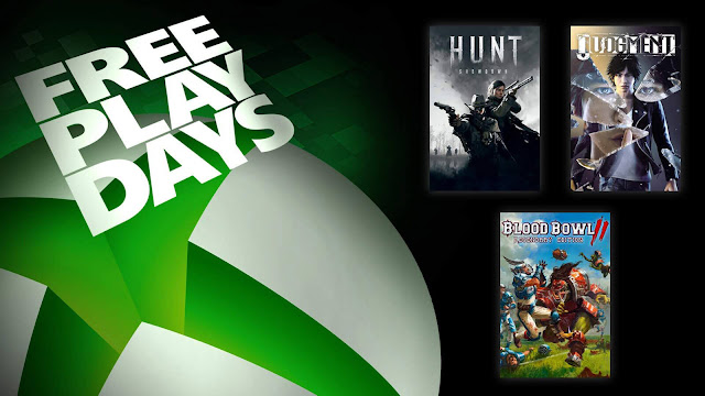 blood bowl 2 legendary edition hunt showdown judgment xbox live gold free play days event