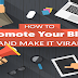 How To Promote Your Blog And Make It Viral #infographic